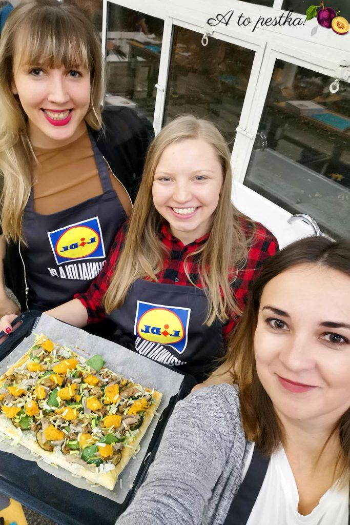 Tarta z dynią, grzybami i śledziami (przepis K. Okrasy) - warsztaty kulinarne 2