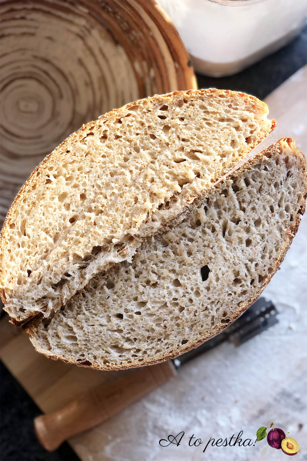 Chleb na zakwasie: przepis na chleb pszenny (Vermont, Hamelman)
